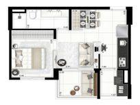 Apartamento com 01 dormitório à venda no Brás