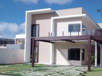 Linda casa duplex em condomínio fechado com 4 suítes e fino acabamento