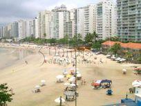 Apartamento temporada frente a praia, 4 dormitórios, Pitangueiras, Guarujá - SP.
