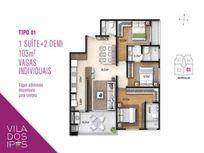 APARTAMENTO TIPO 01 - 103,00 m² - VILA DOS IPÊS - GRAVATÁ - NAVEGANTES/SC