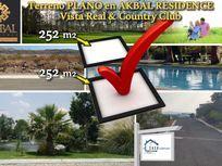 Terreno PLANO de 252 m2 en AKBAL Residence, Vista Real Country Club