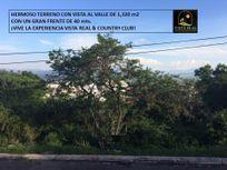 HERMOSO TERRENO EN VISTA REAL DE 1,320 m2, CON VISTA AL VALLE