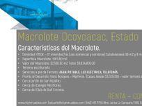 VENTA TERRENO MACROLOTE H150A - OCOYOACAC  ESTADO DE MEXICO