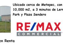 Terreno Comercial en Renta en Metepec