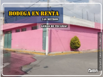 Renta de Bodega, en Lomas de Tecamac.