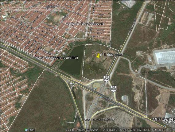 "Terreno à venda, 113000 m² por <span itemscope="""" itemtype=""http://schema.org/TradeAction""><span itemprop=""price"">R$ 19.210.000</span></span>- Nova Metrópole - <span itemprop=""addressLocality"">Caucaia</span>/CE"