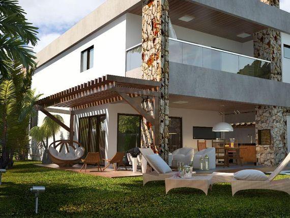"""Casa duplex com 4 quartos à venda, 200 m², área de lazer, condomínio fechado, financia  - Mangabeira - <span itemprop=""""addressLocality"""">Eusébio</span>/CE"""