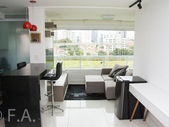 """Apartamento à venda com 45m² no <span itemprop=""""addressLocality"""">Brooklin</span>"""