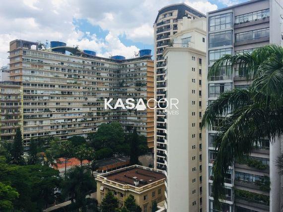 """Apartamento com 3 quartos e 15 Andar na <span itemprop=""""streetAddress"""">Av Higienópolis</span>, São Paulo, <span itemprop=""""addressLocality"""">Consolação</span>"""