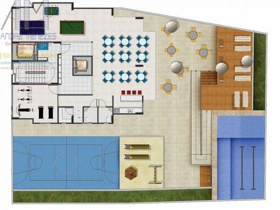 """Em <span itemprop=""""addressLocality"""">Manaíra</span>, Apto 03 Qtos, 81m² , Nascente, varanda, elevador, área de lazer, excelente localização."""