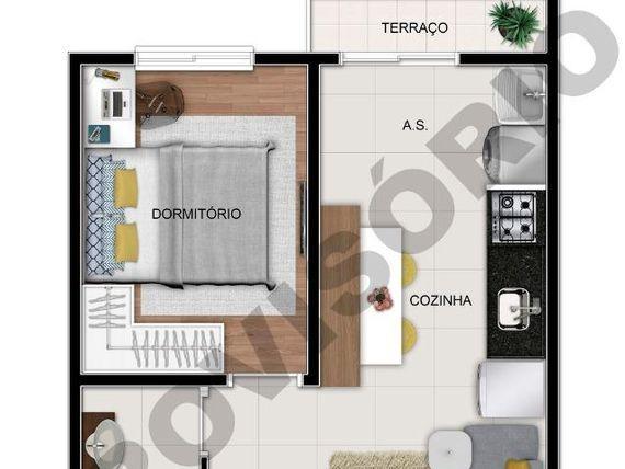 """Apartamento com 2 dormitórios à venda, 38 m² por <span itemscope="""""""" itemtype=""""http://schema.org/TradeAction""""><span itemprop=""""price"""">R$ 190.450</span></span>- <span itemprop=""""addressLocality"""">Sacomã</span> - São Paulo/SP"""