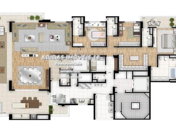 """Apartamento de 288m2 com 04 suítes 04 vagas em <span itemprop=""""addressLocality"""">Moema</span>"""