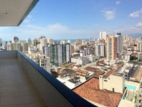 """Apartamento alto padrão 3 dormitórios no Canto do Forte em <span itemprop=""""addressLocality"""">Praia Grande</span> aceita financiamento direto"""