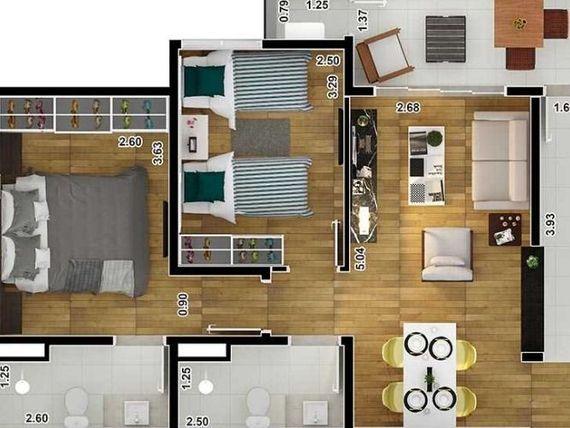 """Apartamento - 1 ou 2 dormitórios - Ed. Lutz - <span itemprop=""""addressLocality"""">São José do Rio Preto</span>/SP"""