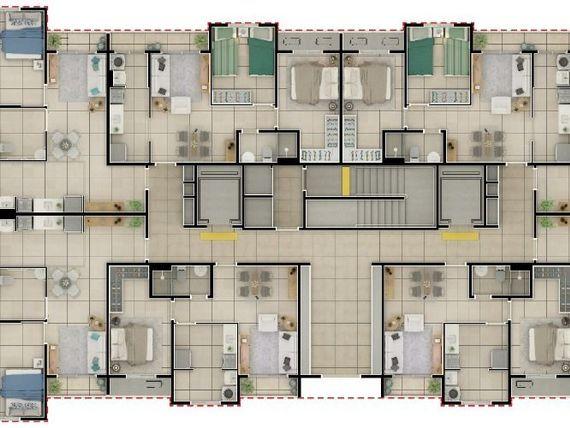 """Apartamento - 1 ou 2 dormitórios - Green Life São Marcos - <span itemprop=""""addressLocality"""">São José do Rio Preto</span>/SP"""