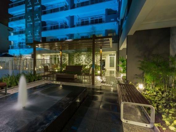 """Apartamento mobiliado para locação com 46m² no <span itemprop=""""addressLocality"""">Campo Belo</span> - SP"""