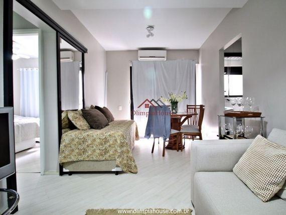 """Apartamento mobiliado à venda com 44m² no <span itemprop=""""addressLocality"""">Jardim Paulista</span>"""