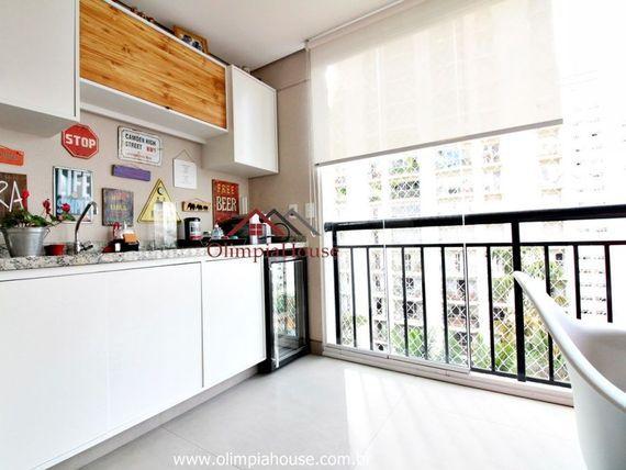 """Apartamento para venda com 58m², <span itemprop=""""addressLocality"""">Brooklin</span> SP."""