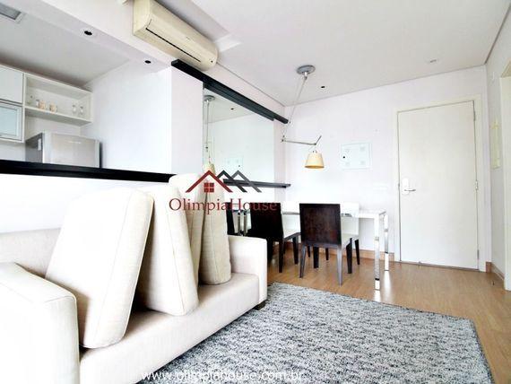 """Apartamento para locação de 1 dormitório decorado ,na <span itemprop=""""addressLocality"""">Vila Nova Conceição</span>."""