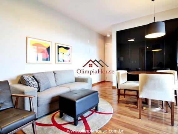 """Apartamento mobiliado para locação e venda de 60 m² - <span itemprop=""""addressLocality"""">Brooklin</span> - SP"""