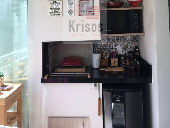 Apartamento mobiliado com 3 dormitórios, 1 suite repleto de armários, 1 vaga, varanda gourmet