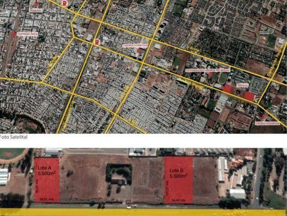 Terrenos de 5500m2 aprox ideal para Estacion Servicio en Av San Miguel - Talca