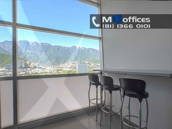 Oficina amueblada en renta de 170m2 Valle Oriente