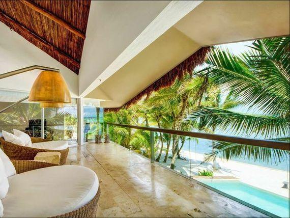Villa  Zacil-Na de lujo frente al mar 5 dormitorios con piscina.