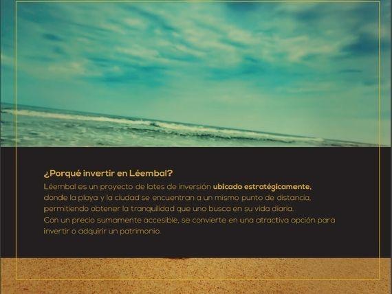 """""""LÉEMBAL"""" Excelentes lotes de inversión cerca de la playa de <span itemprop=""""addressLocality"""">Chicxulub</span> Puerto"""