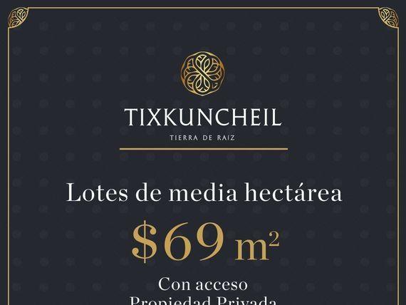 LOTES DE INVERSIÓN EN VENTA EN TIXKUNCHEIL!!!