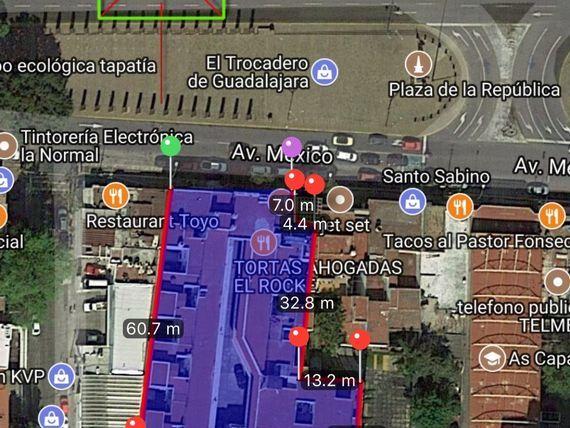 Terreno comercial (2,300 mts)sobre Av. Mexico a una cuadra de Av. Chapultec