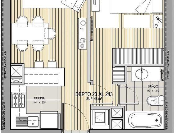 Departamento de 60 m2, con insuperable vista, Av. Edmundo Eluchans