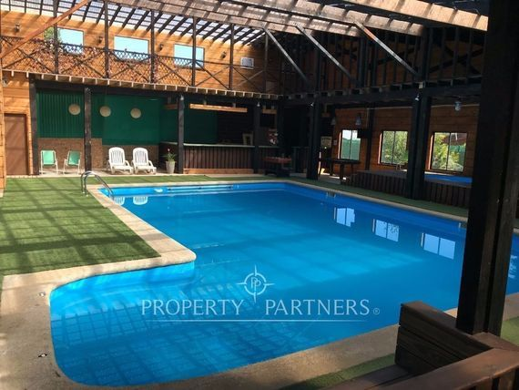 """<span itemprop=""""addressLocality"""">Villarrica</span>: Complejo turístico, cabañas, piscinas y salón de eventos."""