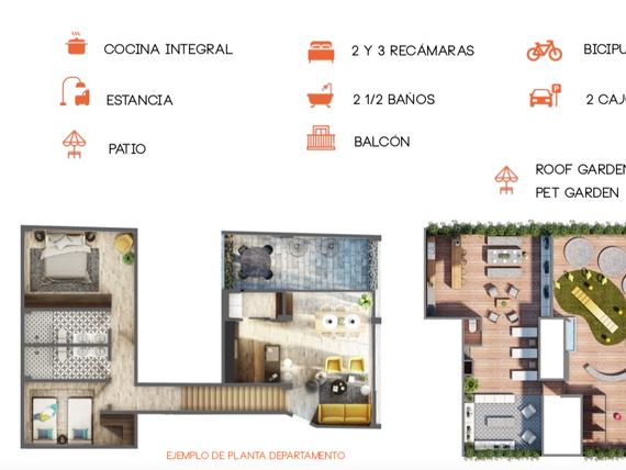Estrene departamento de 134 m2, 3 recs., 2 niveles, 2½ baños, 2 cajones