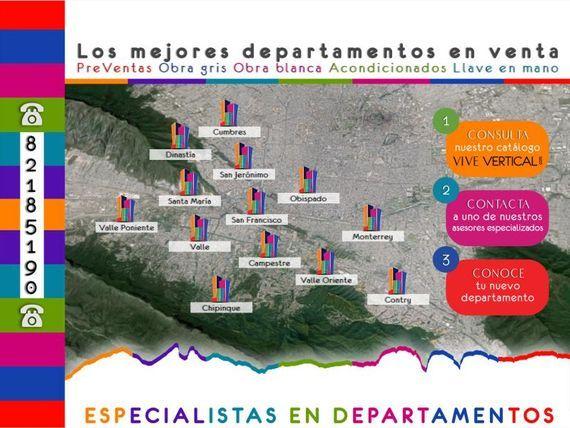 Departamento en Renta en Zona Valle Oriente