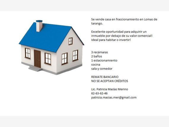 "Casa en Venta en <span itemprop=""addressLocality"">Lomas de Tarango</span>"