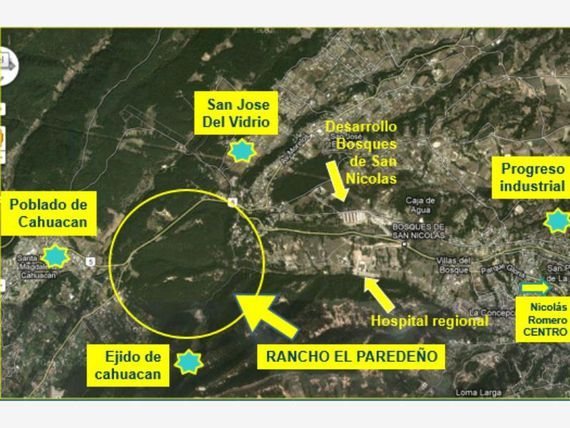 Terreno en Venta en CAHUACAN 100 HECTAREAS