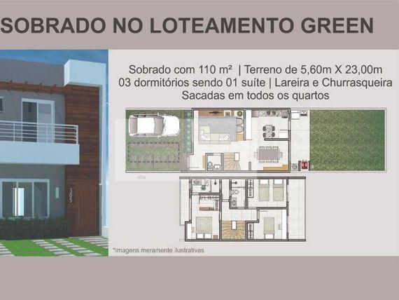 Sobrado c/03 dormitório Pronto para Morar no Loteamento Green