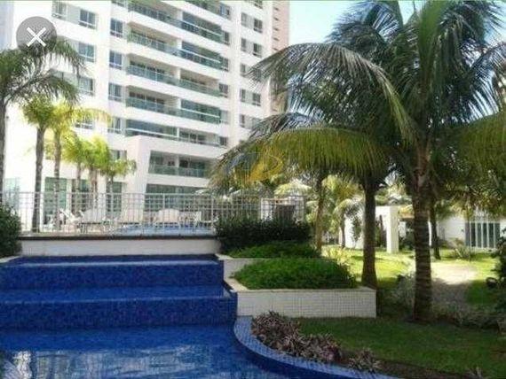 Alugo apartamento com vista mar em condomínio clube, com 133m², varanda, 3 suites + DCE e 2 vagas