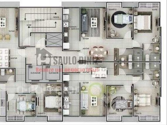 Apartamento em construção em Manaira com 2 ou 3 quartos