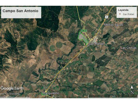 """Campo San Antonio, San Rafael, Region del <span itemprop=""""addressLocality"""">Maule</span>"""