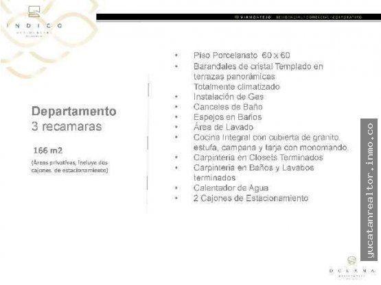 VIA Montejo departamento 2 recamaras Torre Indico