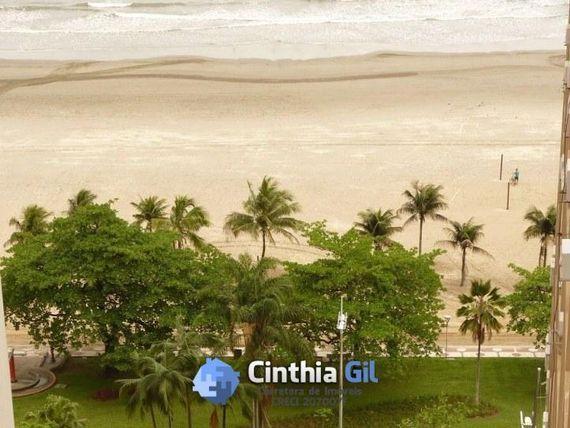 Orla da praia 3 dormitórios - 1 vaga, vista mar