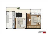 Apartamento com 1 quarto e 2 Elevador, Belo Horizonte, Funcionários, por R$ 379.794