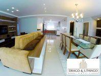 Lindo imóvel, quadra mar, mobiliado, decorado e equipado, com 3 suítes, área de lazer completa e localizado na Barra Sul.