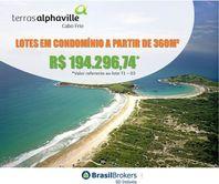 Terras Alphaville Cabo Frio - Terrenos à venda em condomínio fechado no Peró, entre Búzios e Cabo Frio - RJ - gm004