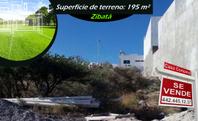 Se Vende Terreno de 195 m2 en ZIBATA - Agave, Gran ubicación, BUEN PRECIO!