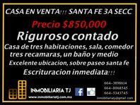 CASA EN SANTA FE 3A SECC- A PRECIO DE REMATE! escritura inmediata!