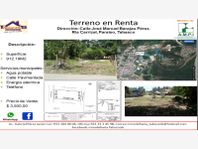 Terreno en Renta en RANCHERIA CARRIZAL