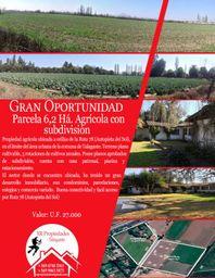 Parcela agrícola de 6,2 há con subdivisión